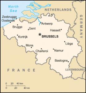Belgium térkép